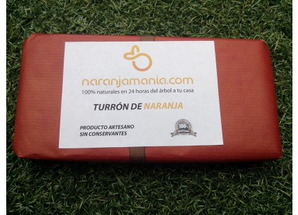 TURRON ARTESANO DE NARANJA 250grms
