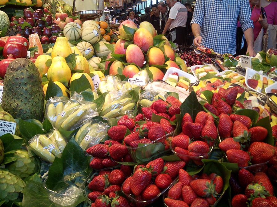 Exposición de Fruta Fresca y Natural