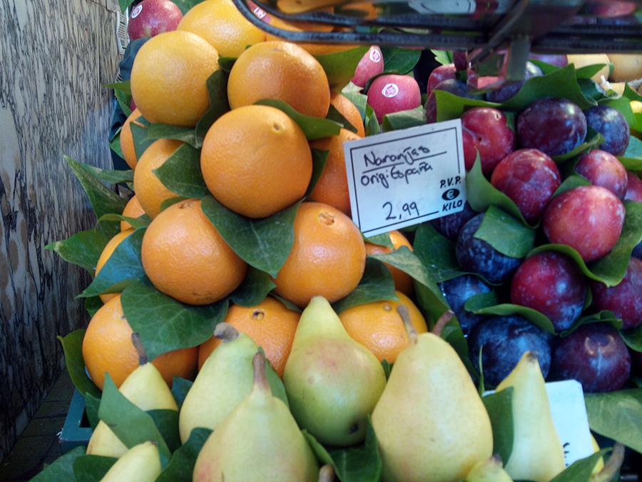 Precio por Kilos de las Naranjas del Mercado de la Boqueria