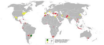 Países productores de naranjas